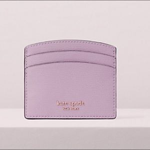 NWT Kate Spade Sylvia card holder in Orchid